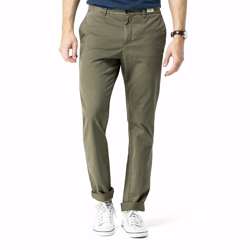 Tommy Hilfiger Pánské khaki plátěné kalhoty Tommy Hilfiger 9194